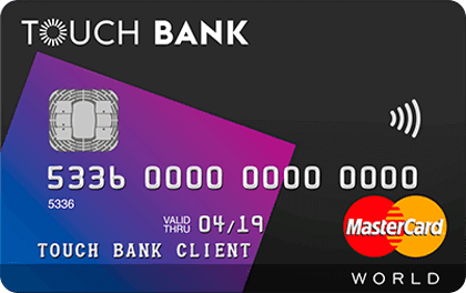 Кредитная карта банка Touch Bank World MasterCard онлайн заявка