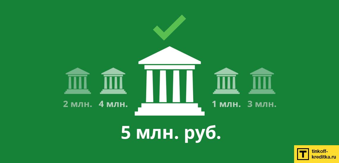 Можно ли найти банк, где выдают денежный кредит на 5 млн. руб. на десять лет?