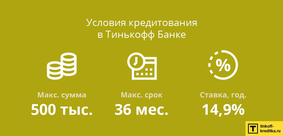 Расчет потребительского кредита наличными в банке Тинькофф