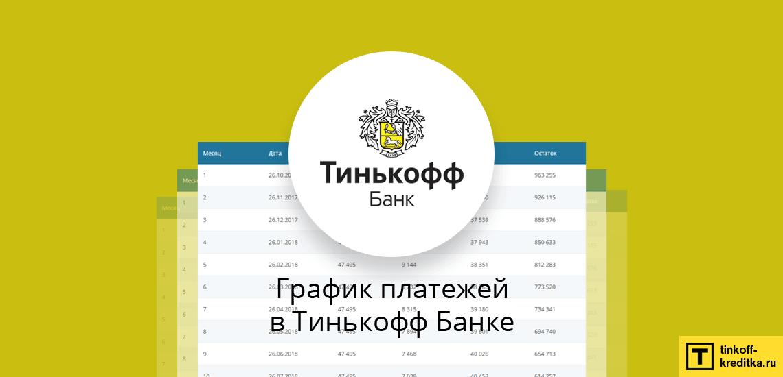 Рассчитать график ежемесячных платежей и таблицу досрочного погашения кредита Тинькофф