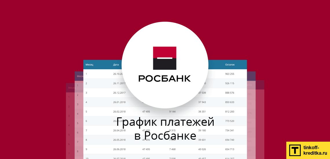 График платежей по кредиту Росбанка можно рассчитать без официального сайта