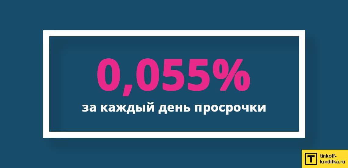 Размер штрафа за каждый день просрочки если вовремя не оплатить платеж на карте рассрочки Хоум Кредит Банка