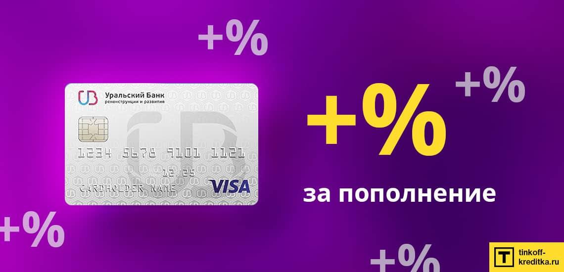 Пополнение кредитки 120 дней без процентов от УБРиР с комиссией - 3 способа