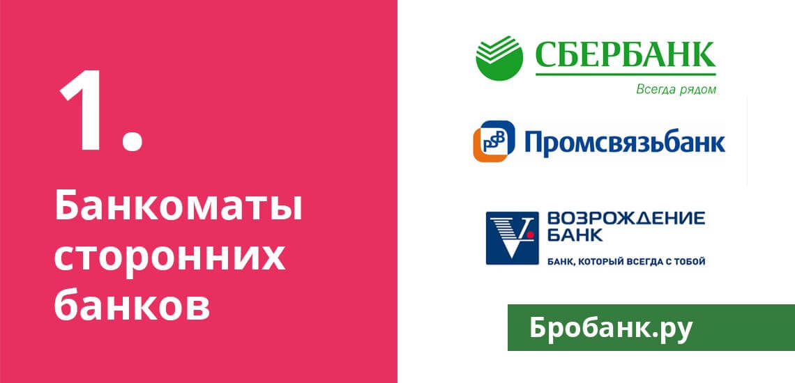 Платное пополнение кредитки Ренессанс в банкоматах сторонних банков