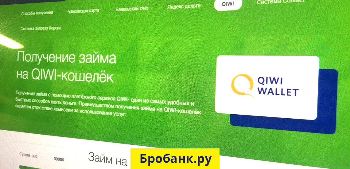 Займ на КИВИ кошелек в МФК Займер - QIWI круглосуточно без отказа