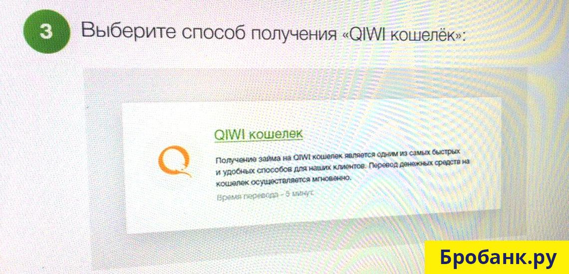 Подайте заявку онлайн на сайте Zaymer.ru и выберите способ получения QIWI