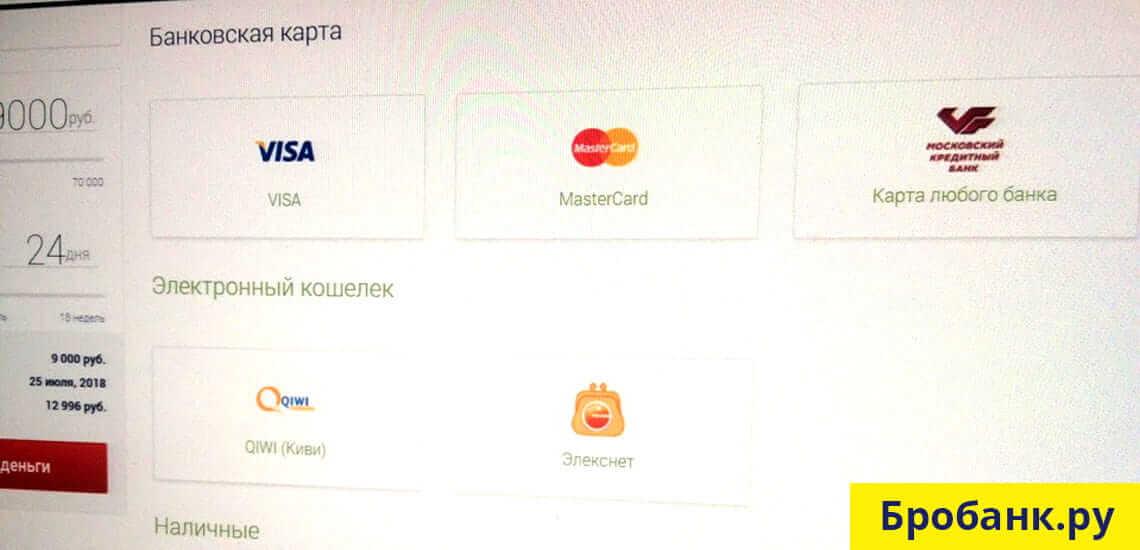 Все способы погашения заема доступны на сайте Манимен.ру в личном кабинете