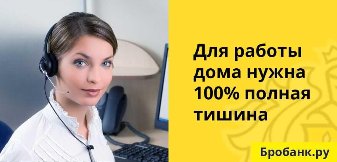 Одно из условий работы на дому в Тинькофф - наличие полной тишины при общении с клиентами