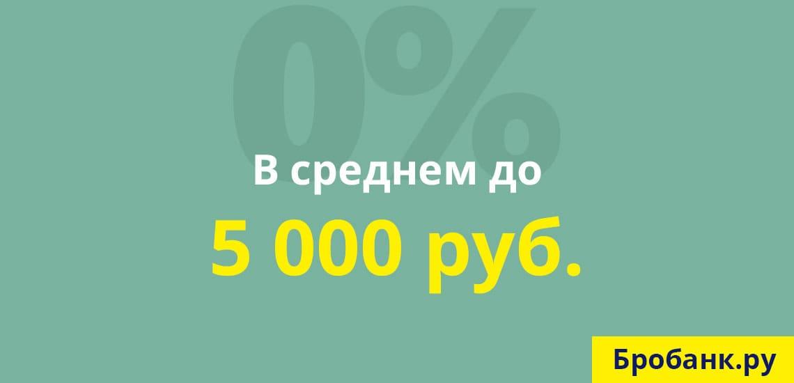 Средняя сумма бесплатного первого займа не превышает 5 тыс. руб.