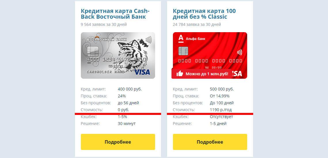 Плата за обслуживание кредитной карты может быть либо раз в год, либо раз в месяц