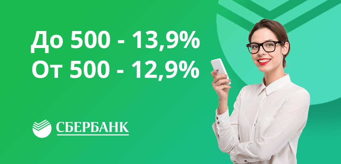 Тарифы по рефинансированию зависят от суммы кредита, процентная ставка варьируется от 12,9 до 13,9%