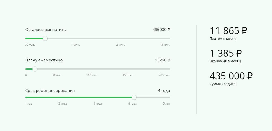 Калькулятор на официальном сайте Сбербанка поможет рассчитать выгоду после рефинансирования