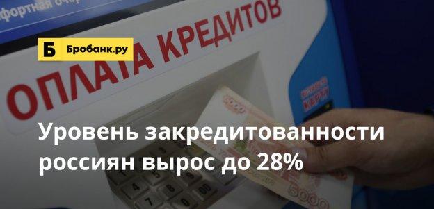 Уровень закредитованности россиян вырос до 28%