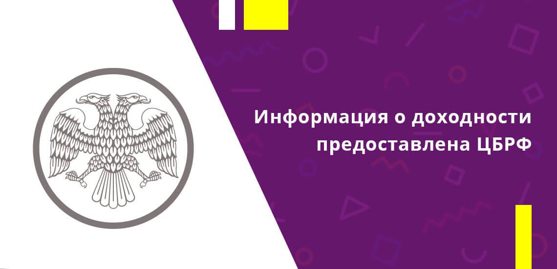 Информация о доходности получена из официального источника - сведений, предоставленных Центральным Банком России