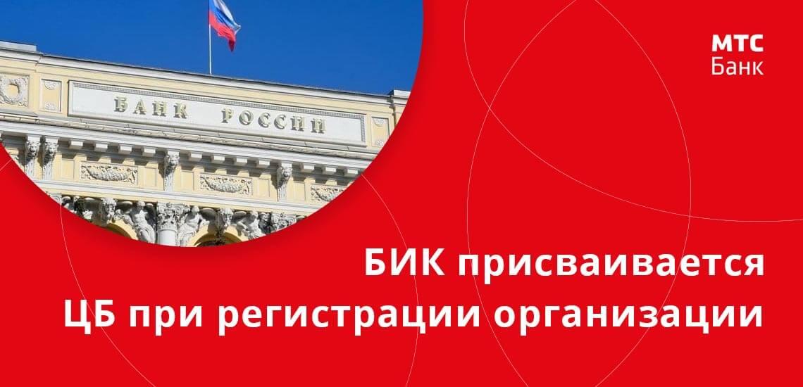 БИК - это индивидуальный номер финансовой организации, присвоенный ей при регистрации Центральным Банком