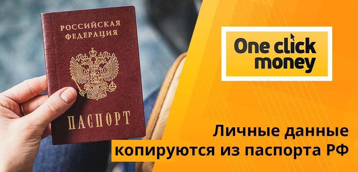 Личные данные вводятся, исходя из информации паспорта гражданина РФ