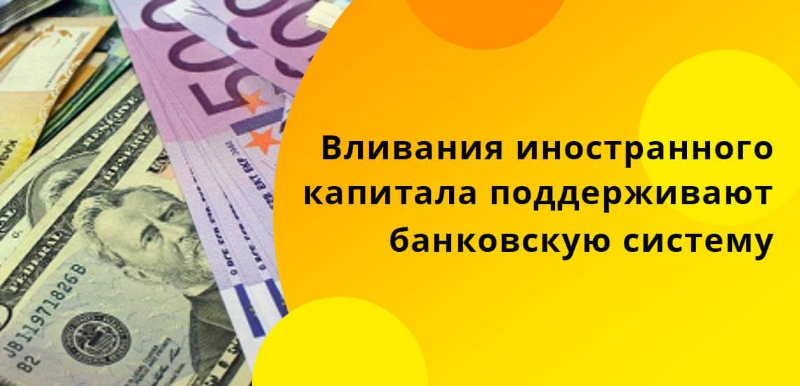 Вливания иностранного капитала помогают удерживать на плаву банковскую систему, поддерживать государство в его социальных выплатах незащищенным слоям населения