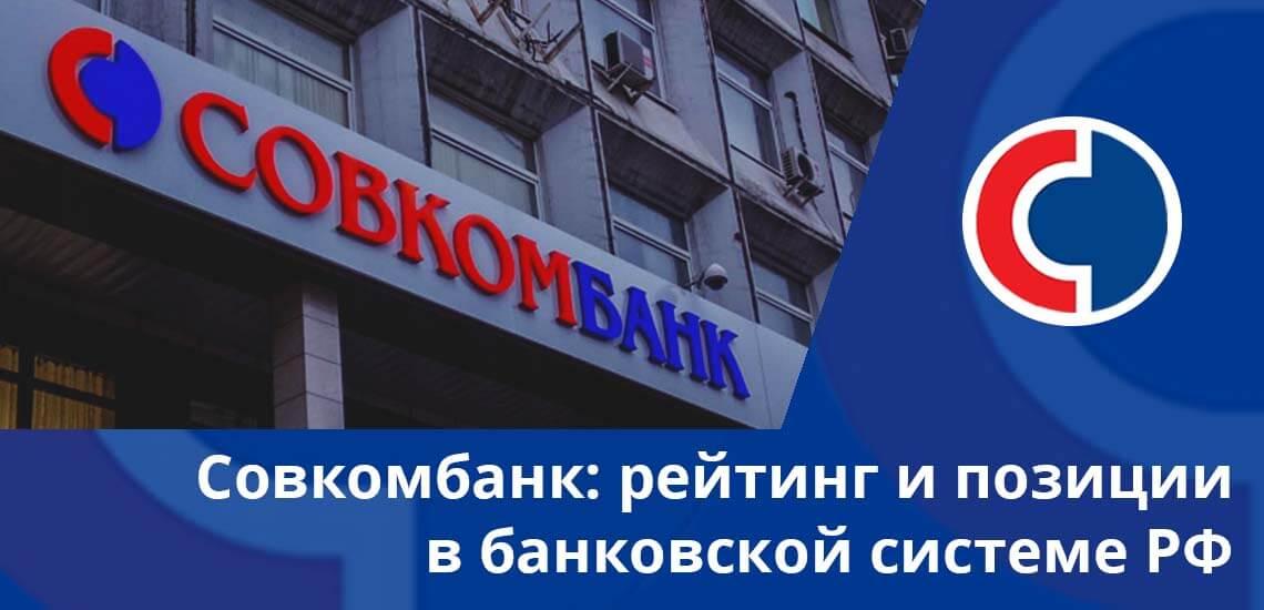 Совкомбанк: рейтинг и позиции в банковской системе РФ