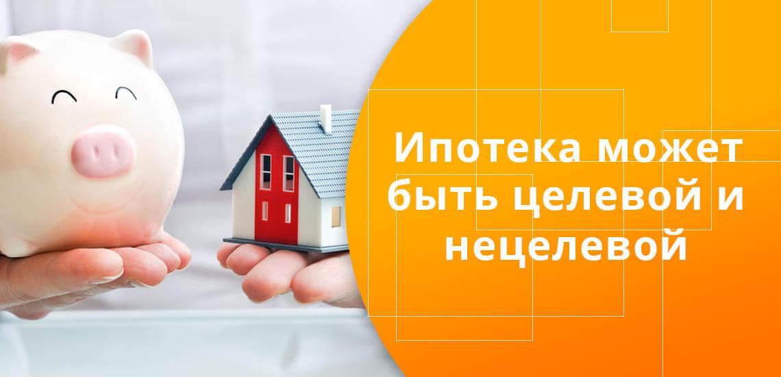 Ипотечное кредитование может быть целевым или нецелевым