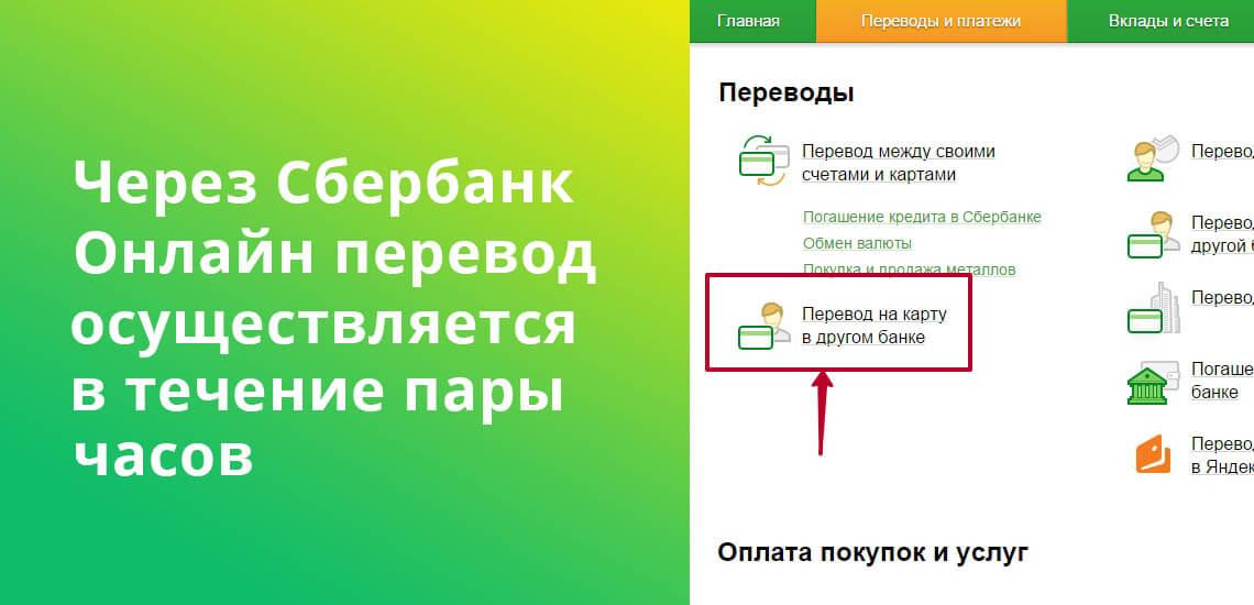Через Сбербанк Онлайн перевод между картами Райффайзен и Сбербанка осуществляется в течение пары часов