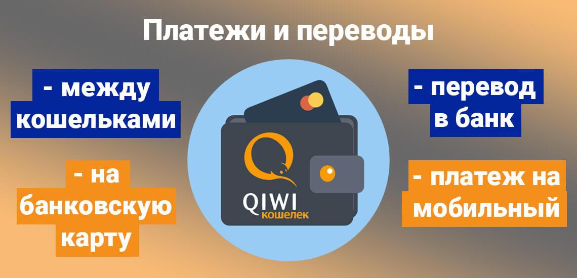 Совершать платежи и переводы с Qiwi-кошелька можно онлайн, не выходя из дома