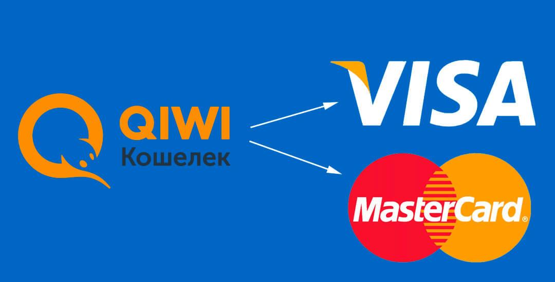 Выведение средств с QIWI кошелька на банковскую карту