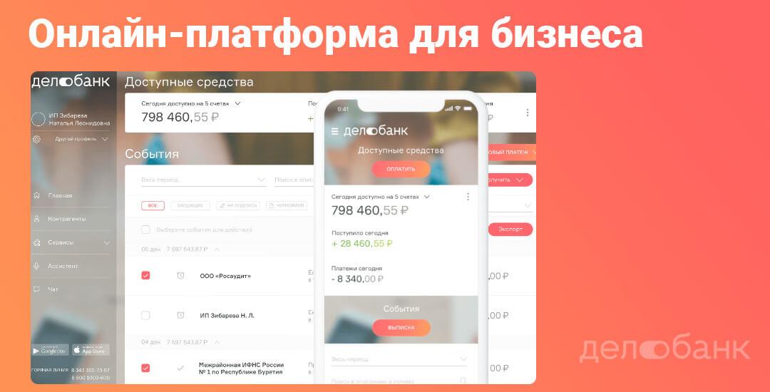 Делобанк предоставляет большие возможности для развития бизнеса на своей онлайн-платформе