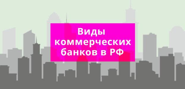 Виды коммерческих банков в РФ