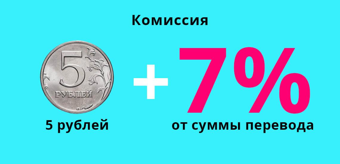 Комиссия по денежному переводу  с Tele2 на Йоту будет составлять 5 рублей и 7% от суммы перевода