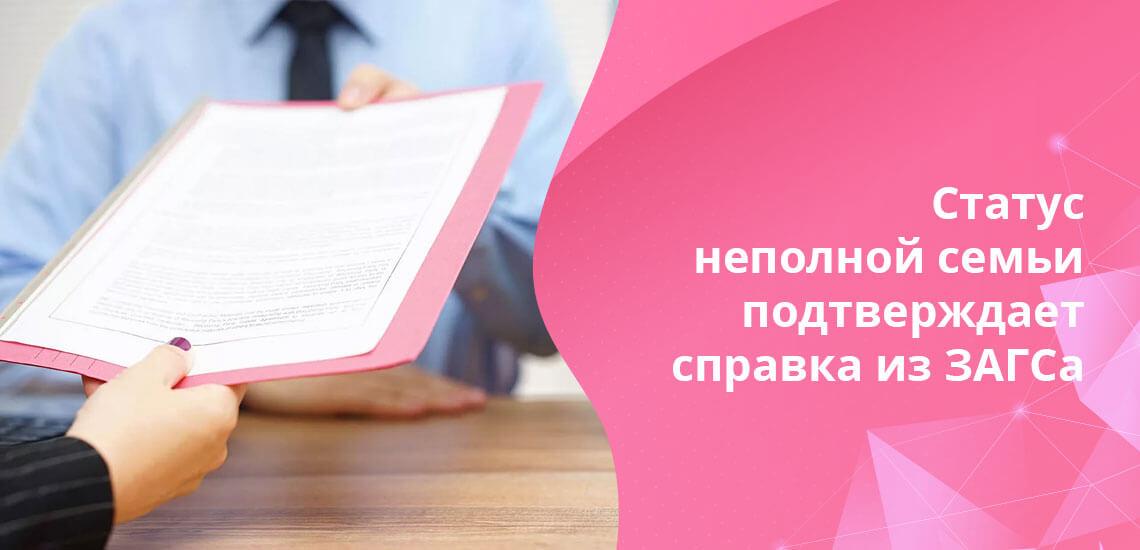 """Для получения статуса матери-одиночки в свидетельстве о рождении у детей должен быть поставлен прочерк в пункте """"Отец"""""""