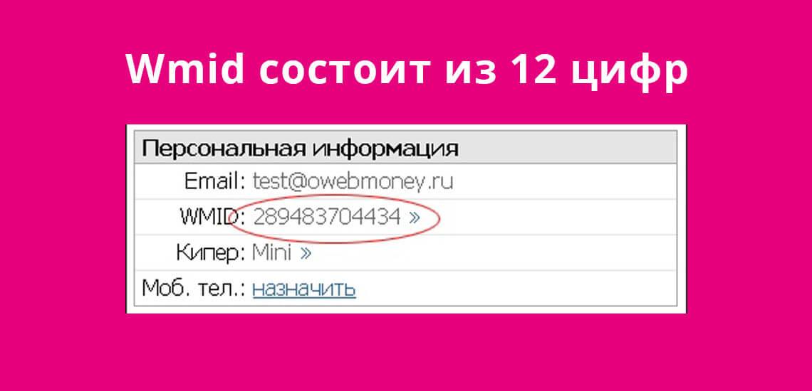 Код Wmind состоит из 12 цифр: название платежной системы, обозначение валюты и уникальный номер