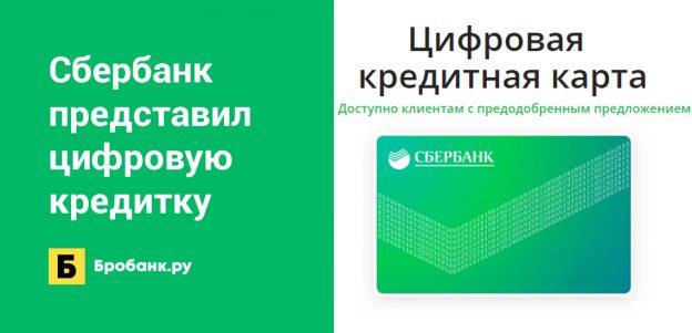 Сбербанк представил цифровую кредитную карту