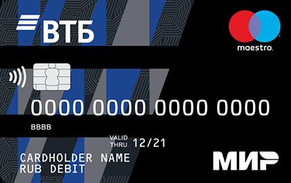 Дебетовая карта ВТБ Мультикарта МИР-Maestro оформить онлайн-заявку