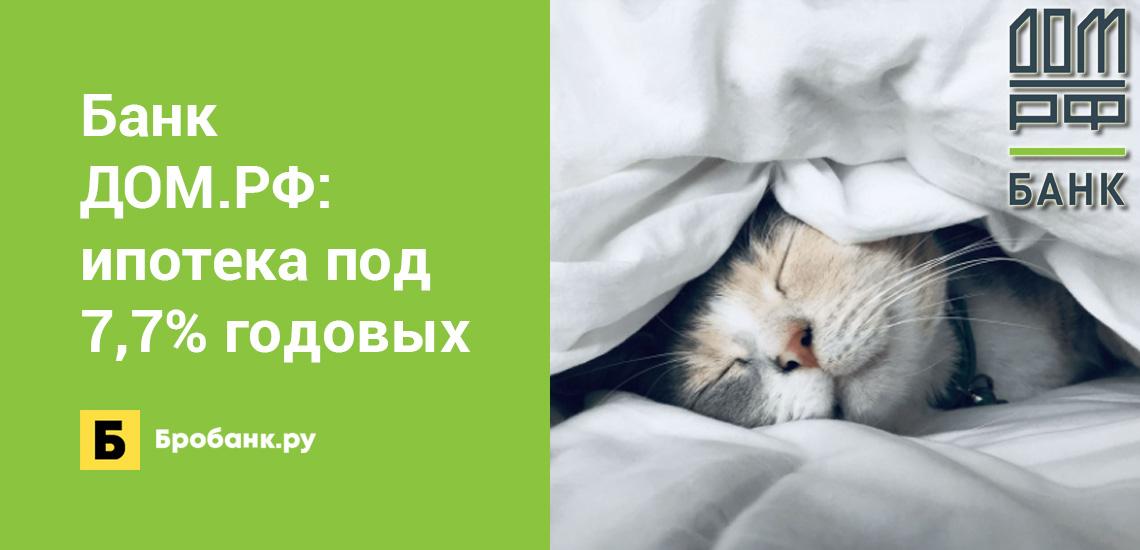 Банк ДОМ.РФ: ипотека под 7,7% годовых
