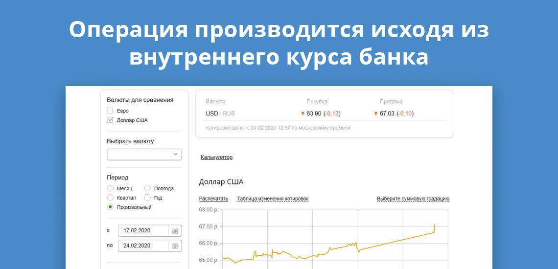 Операция по переводу на иностранный счет производится исходя из внутреннего курса банка