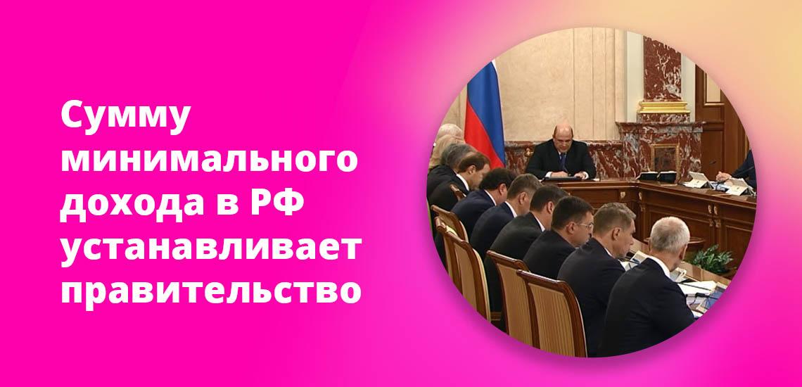 Сумму минимального дохода в РФ устанавливает правительство