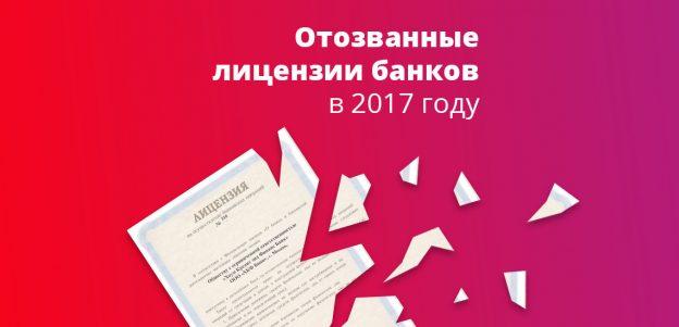 Отозванные лицензии банков в 2017 году