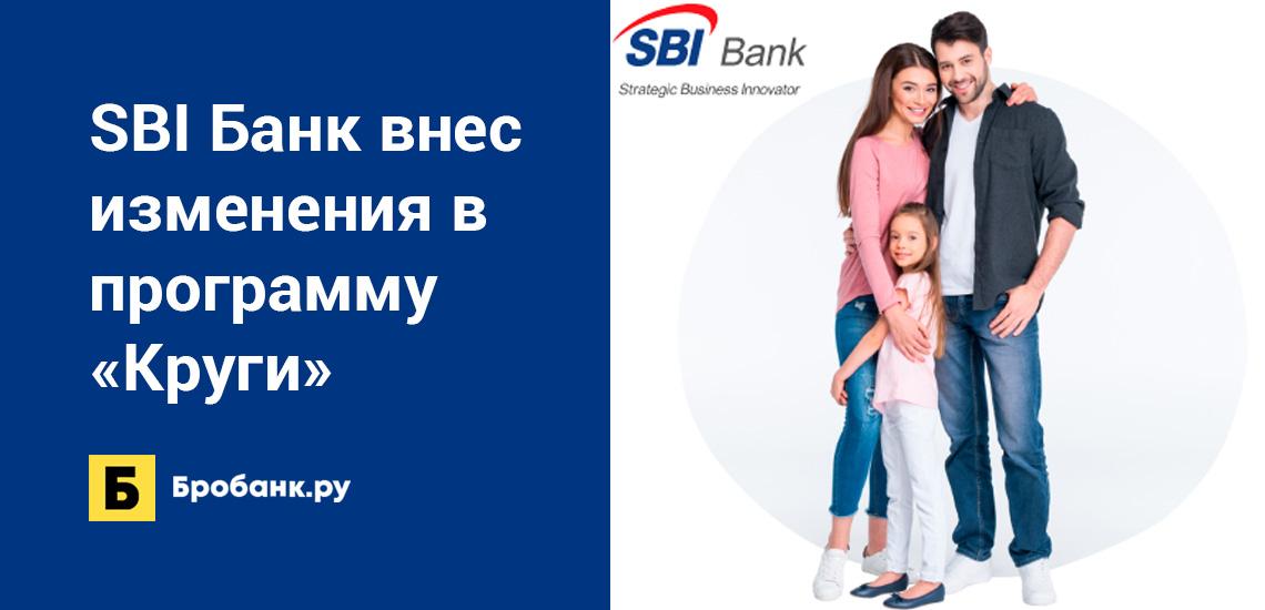 SBI Банк внес изменения в программу лояльности Круги