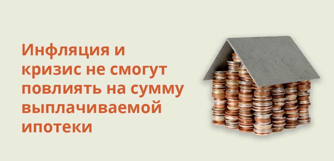 Инфляция и кризис не смогут повлиять на сумму выплачиваемой ипотеки