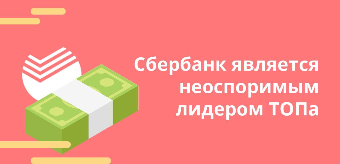 Сбербанк является неоспоримым лидером ТОПа