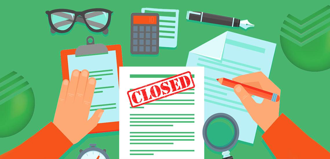 Как закрыть расчетный счет в Сбербанке