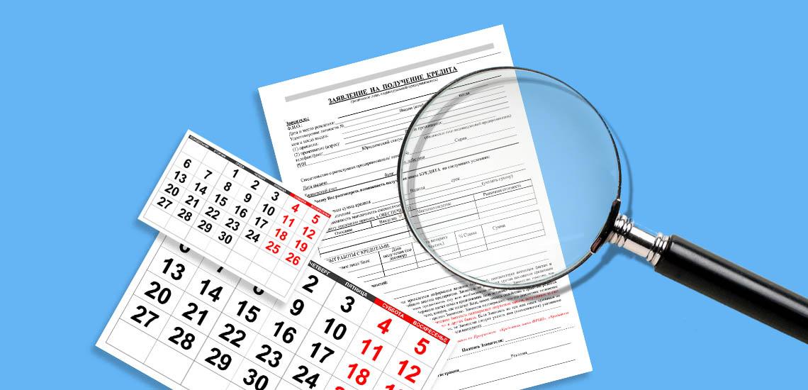 Срок рассмотрения заявки на кредит