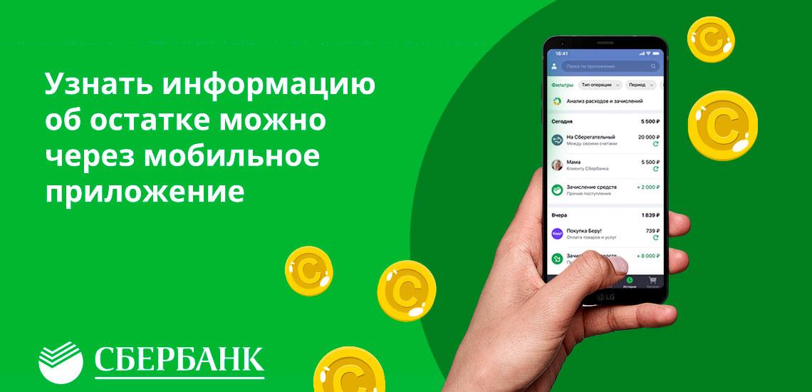 Узнать информацию об остатке можно через мобильное приложение