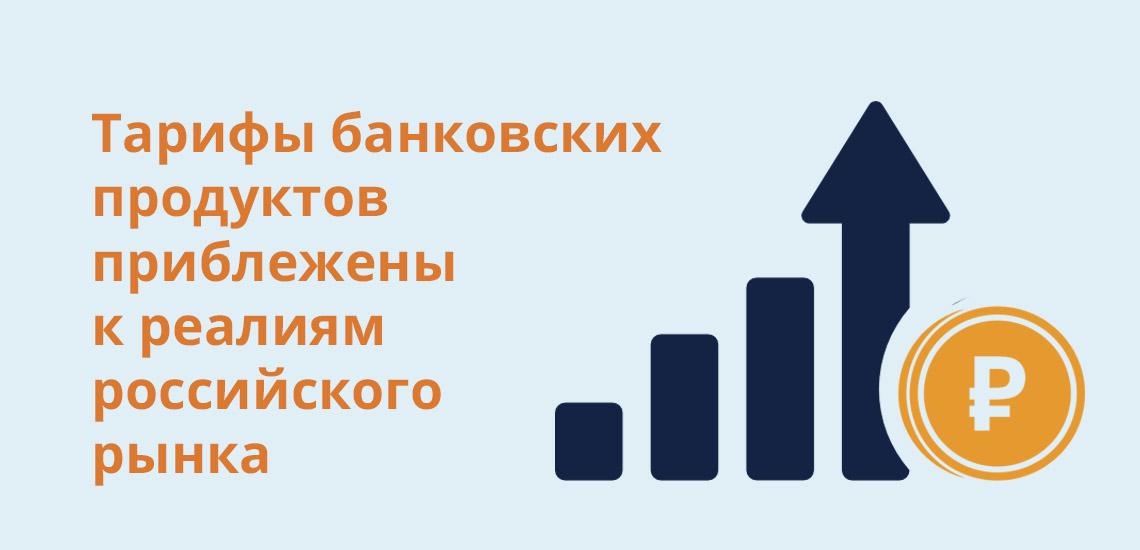 Тарифы банковских продуктов приближены к реалиям российского рынка