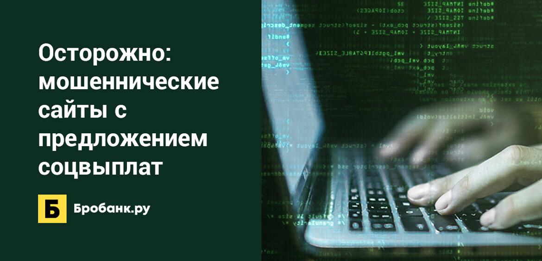 Осторожно: мошеннические сайты с предложением соцвыплат