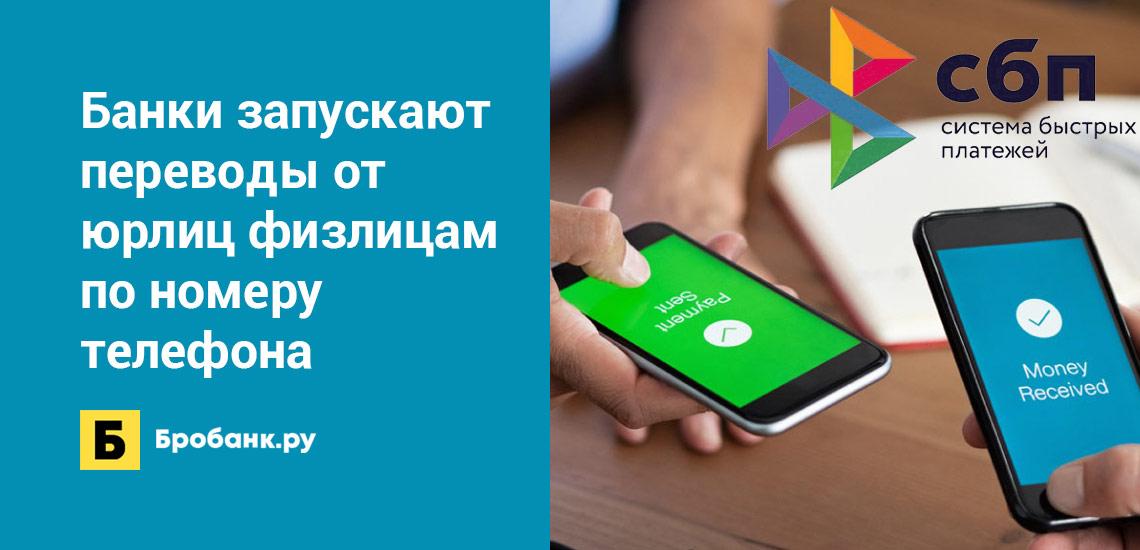 Банки запускают переводы от юрлиц физлицам по номеру телефона