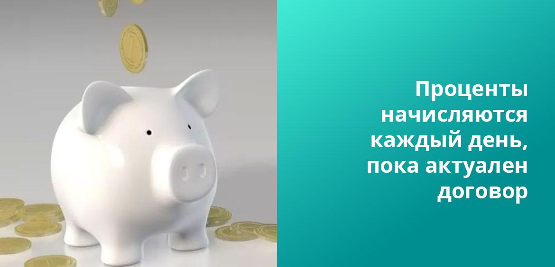 Проценты по вкладам могут начисляться по-разному