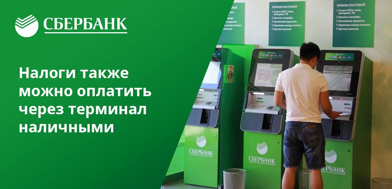 Налоги можно оплачивать не только через банкомат Сбербанка, но и в режиме онлайн, через терминал
