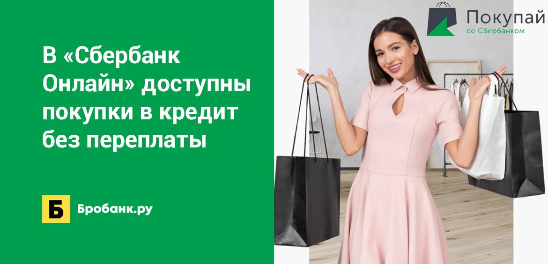 В Сбербанк Онлайн доступны покупки в кредит без переплаты