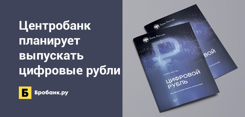Центробанк планирует выпускать цифровые рубли
